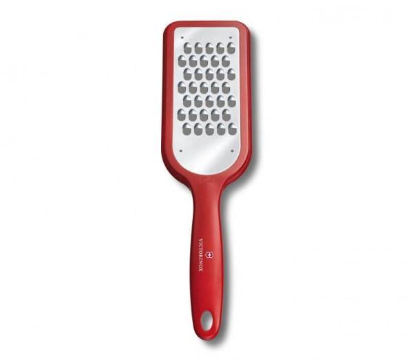 Victorinox Swiss Küchenutensilien, Küchenreibe , grobe Schneide , rutschfesten Gummifüssen rot, metallig, 7.6081.1