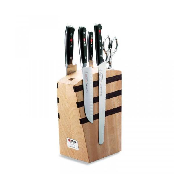 Design Dick Magnet-Messerblock mit Bestückung, 5-teilig, Serie Premier Plus # 8809000