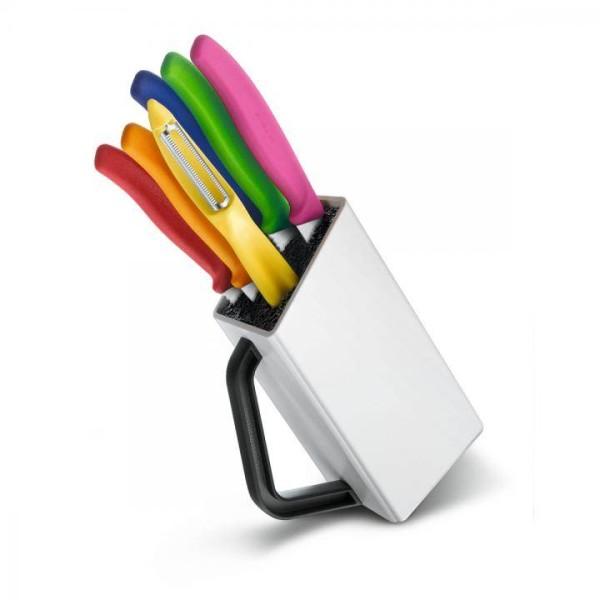 VICTORINOX Messerblock, Kunststoff, mehrfarbig, 7 Einheiten # 6.7127.6L14